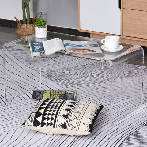 Rectangle 20mm Acrylic Waterfall Coffee Table