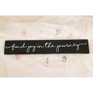 Find Joy in the Journey Sign - Black