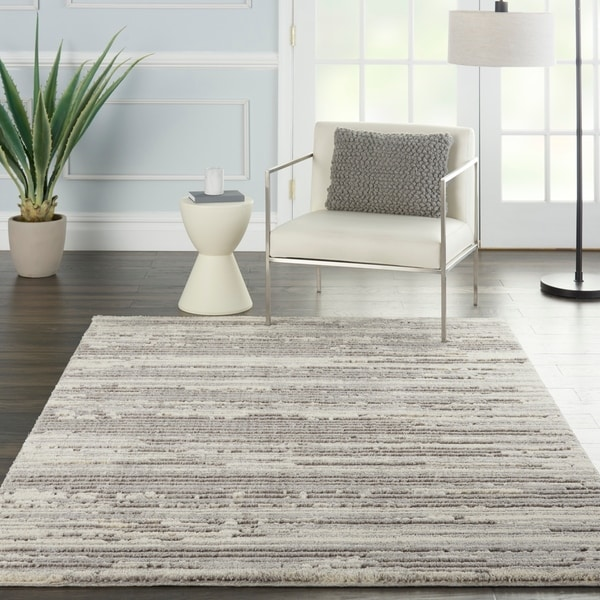 Nourison Textured Contemporary Abstract Area Rug