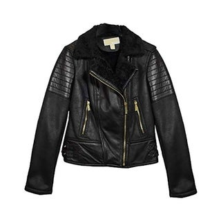 Michael Kors Faux Shearling Leather Jacket