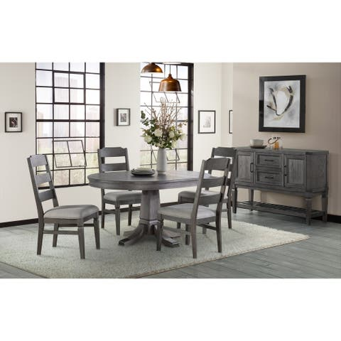 Foundry Brushed Pewter 60 Inch Oval Dining Table