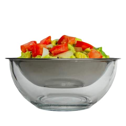 Mezze Glass Chiller Bowl with steel cup