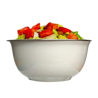 Mezze White Ceramic Chiller Bowl with steel cup