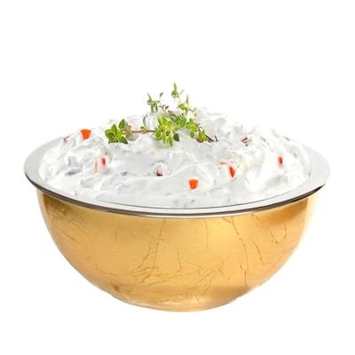 Mezze Gold Gilded Chiller Bowl with steel cup