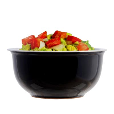 Mezze Black Ceramic Chiller Bowl with steel cup