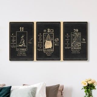 Oliver Gal 'Tarot du Papus' Spiritual and Religious Wall Art Canvas Print - Black, White