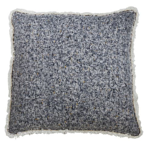 Fringe Floor Pillow With Shimmering Design