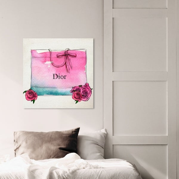 Oliver Gal 'Hazy Eyed' Fashion and Glam Wall Art Canvas Print - Pink, White