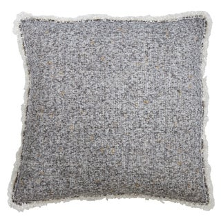 Fringe Throw Pillow With Shimmering Design