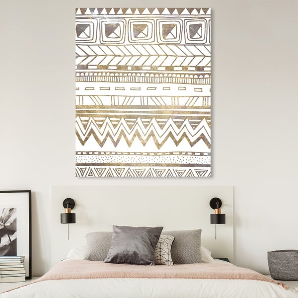 Oliver Gal 'Boho Tornasol' Abstract Wall Art Canvas Print - Gold, White