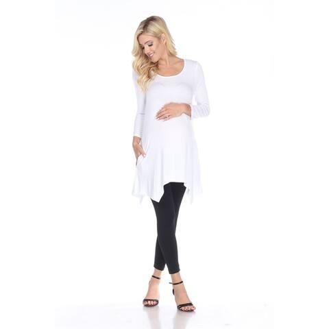 White Mark Women's Maternity 'Kayla' Tunic