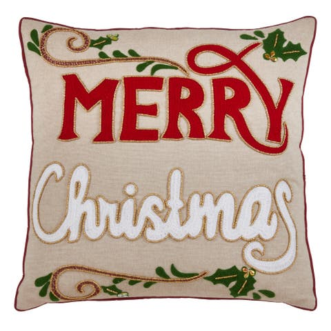 Merry Christmas Design Throw Pillow