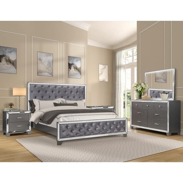 Best Master Furniture Sedona Silver 5 Piecs Bedroom Set