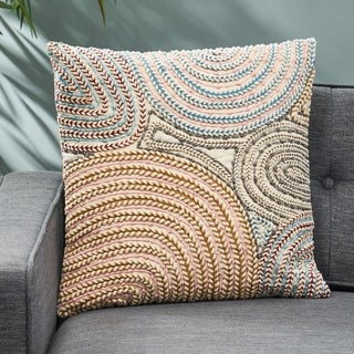 Saratoga Boho Cotton Pillow Cover by Christopher Knight Home
