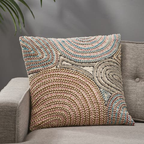 Saratoga Boho Handcrafted Fabric Throw Pillow by Christopher Knight Home