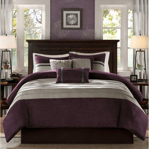 Madison Park Teagan 6 Piece Faux Suede Duvet Cover Set