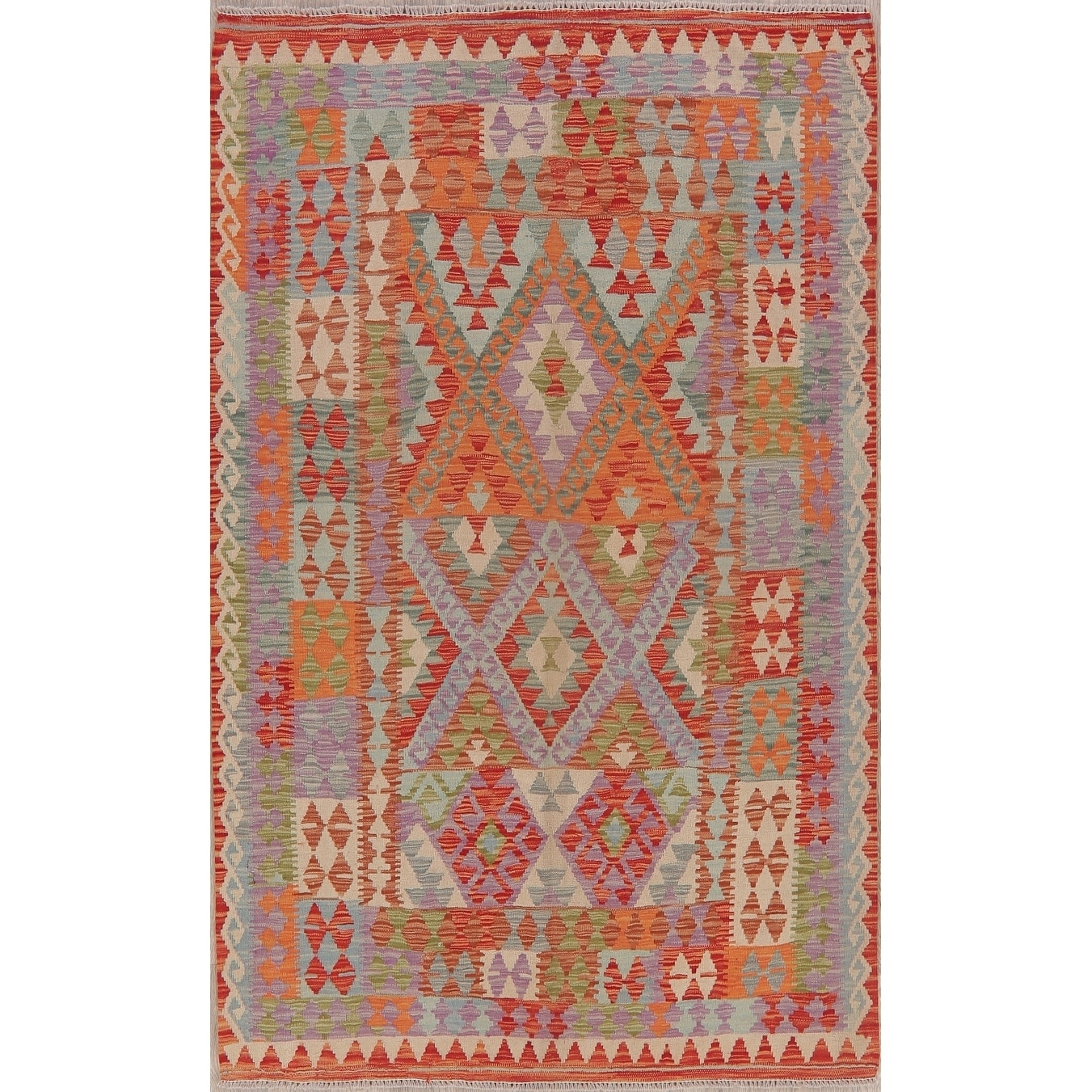 Shop For Pastel Flat Woven Southwestern Tribal Kilim Turkish Geometric Area Rug 6 8 X 4 11 Get Free Delivery On Everything At Overstock Your Online Home Decor Store Get 5 In Rewards With Club O 29766078