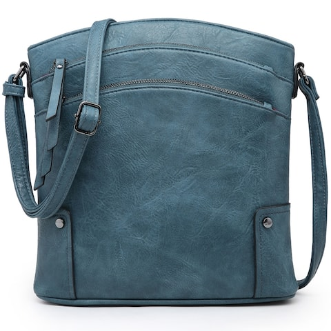 Dasein Multi Compartments Tassel Detailed Crossbody/ Messenger Bag