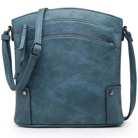 Dasein Multi Compartments Tassel Detailed Crossbody/ Messenger Bag