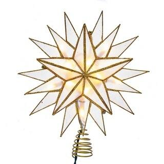 Link to Kurt Adler 10-Light Gold Capiz Star Treetop Similar Items in Christmas Greenery