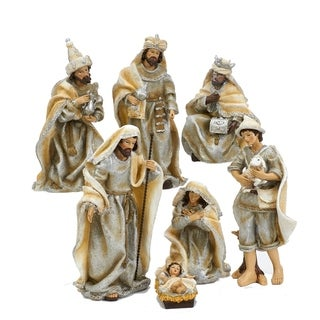 Link to Kurt Adler 3-11.25-Inch Resin Nativity Table Piece Set, 7 Pieces Similar Items in Christmas Decorations