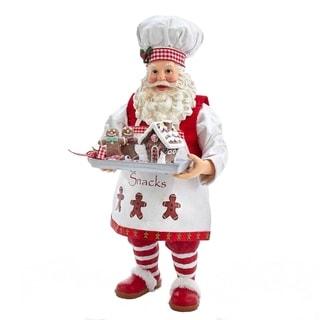 Kurt Adler 11-Inch Fabriché™ Gingerbread Chef Santa