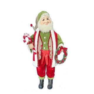 Kurt Adler 36-Inch Kringle Klaus Elf with Wreath