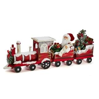 Kurt Adler 30.5-Inch Kringle Klaus Santa On Train