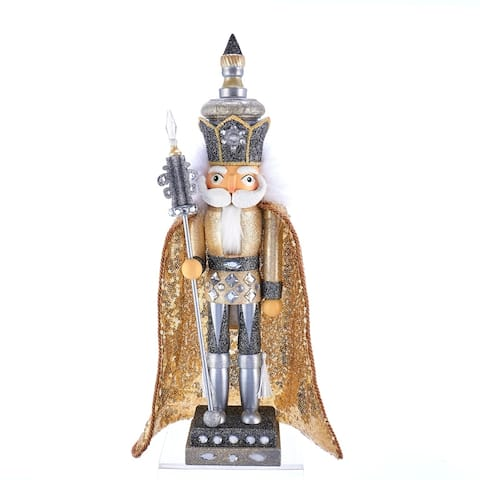Kurt Adler 17.5-Inch Hollywood Gold and Silver King Nutcracker