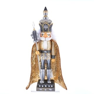 Link to Kurt Adler 17.5-Inch Hollywood™ Gold and Silver King Nutcracker Similar Items in Decorative Accessories