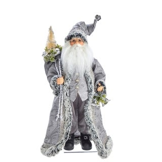 Kurt Adler 18-Inch Kringle Klaus Silver Santa