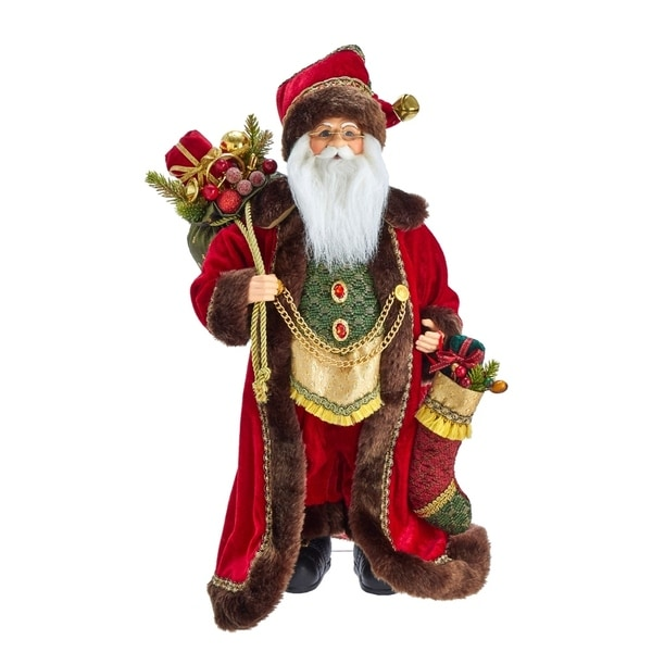 Kurt Adler 18-Inch Kringle Klaus Elegant Santa