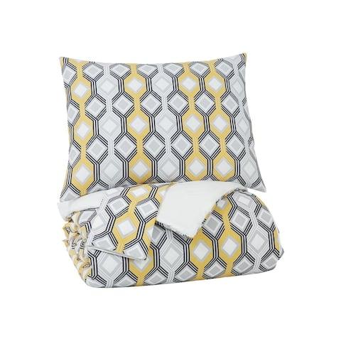 Mato Queen Comforter Set - Geometric Pattern