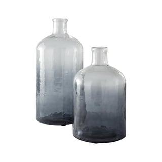 Maleah Set of Two Modern Glass Jars