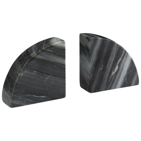 Josetta Contemporary Marble Set of Two Bookends
