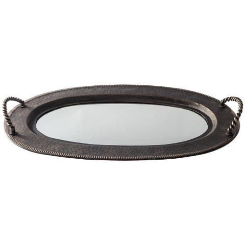Milena Antique Mirrored Tray