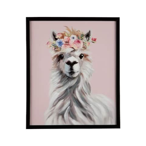 Josie Wall Art - Youth - Framed - Llama