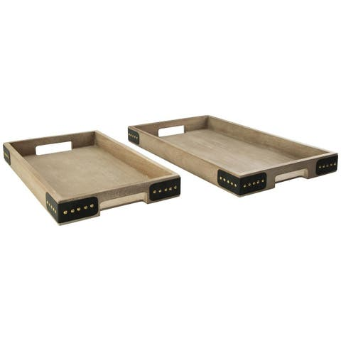 Missa Rustic Industrial Set of Two Trays