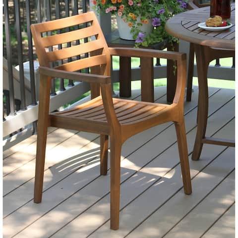 Danish Eucalyptus Stackink Arm Chair, 4pk.