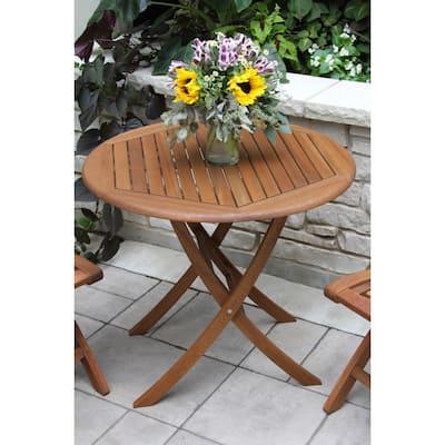 """30"""" Folding Eucalyptus Bistro Table"""