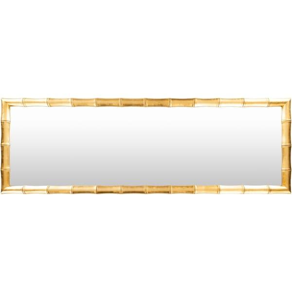 "Tian Gilded Bamboo 24 x 72-inch Floor Mirror - 24"" x 72"""