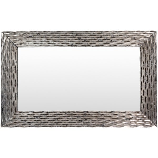 """Rufus Textured Silver 28 x 45-inch Mirror - 28"""" x 45.25"""". Opens flyout."""