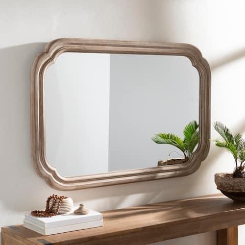 """Vera Whitewashed Wooden 30 x 45-inch Mirror - 30"""" x 45"""""""