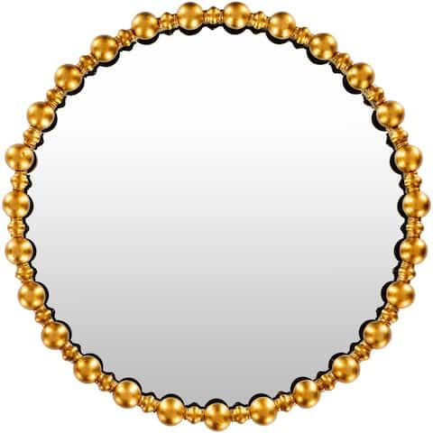 "Hedy Gilded 30-inch Round Mirror - 30"" x 30"""