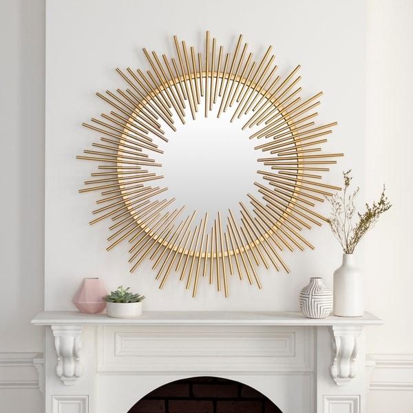 """Soleil Gold Sunburst 39.5-inch Mirror - 40.5"""" x 40.5"""""""