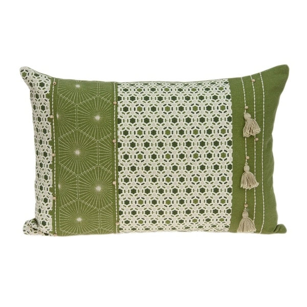 Parkland Collection Omini Tropical Green Pillow Cover With Poly Insert. Opens flyout.