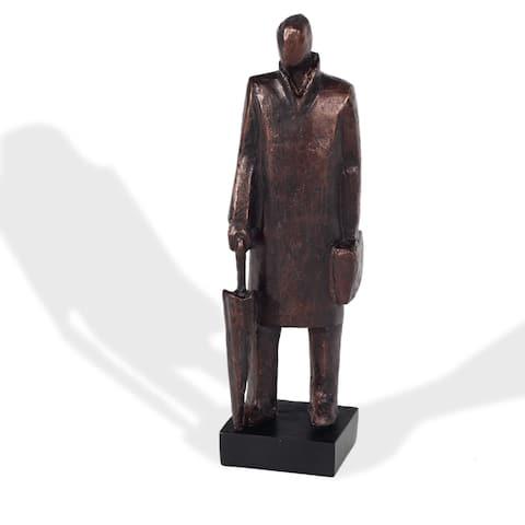 "Wearisome Man, Resin Sculpture - 5"" x 4.5"" x 17"""