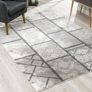 Rug Branch Montage Modern Abstract Area Rug and Runner, Grey