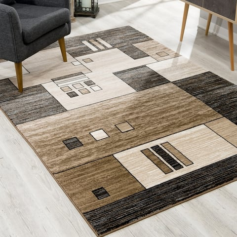 Copper Grove Cooper Modern Abstract Geometric Area Rug