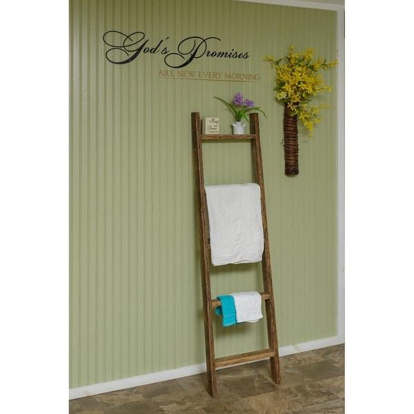 Reclaimed Oak Decorative Ladder